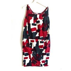 Marni cotton printed sheath dress, size 38 Italy